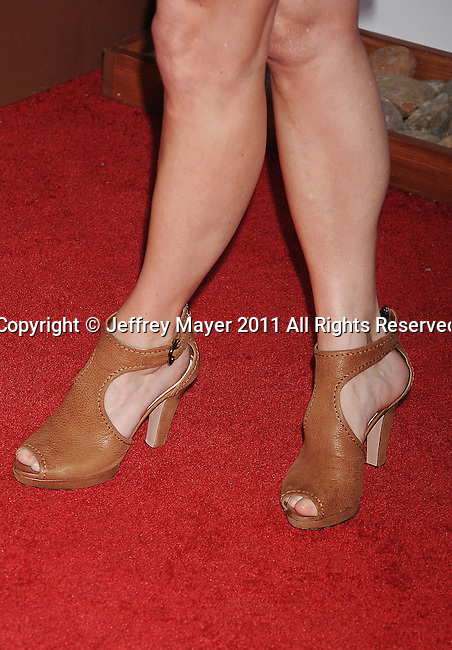 BEVERLY HILLS, CA - AUGUST 03: Robin Tunney (shoes detail) at the TCA Party for CBS, The CW and Showtime held at The Pagoda on August 3, 2011 in Beverly Hills, California.