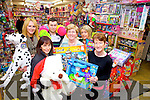Staff from Caball's Toymaster in Tralee getting ready for the St. Vincent de Paul Toy fundraiser.  Pictured were: Deirdre O'Brien, Ann Laide, Hannah O'Regan, Sharon Sheehan, Calvin Reidy, Ann O'Sullivan.