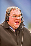 14 December 2014: Buffalo Bills radio announcer John Murphy broadcasts a pre-game show from the sidelines prior to a game against the Green Bay Packers at Ralph Wilson Stadium in Orchard Park, NY. The Bills defeated the Packers 21-13, snapping the Packers' 5-game winning streak and keeping the Bills' 2014 playoff hopes alive. Mandatory Credit: Ed Wolfstein Photo *** RAW (NEF) Image File Available ***