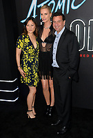 Charlize Theron, Beth Kono &amp; A.J. Dix at the premiere for &quot;Atomic Blonde&quot; at The Theatre at Ace Hotel, Los Angeles, USA 24 July  2017<br /> Picture: Paul Smith/Featureflash/SilverHub 0208 004 5359 sales@silverhubmedia.com
