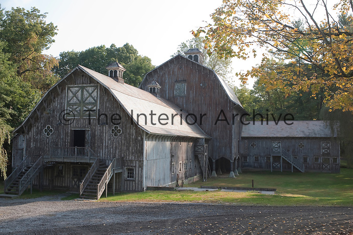The Locust Barns is a rare surviving complex and the singular vision of a wealthy American who had it built in the 19th century as a place in which to entertain his friends