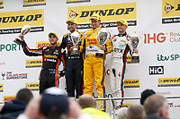 Round 8 of the 2018 British Touring Car Championship. Race three podium.