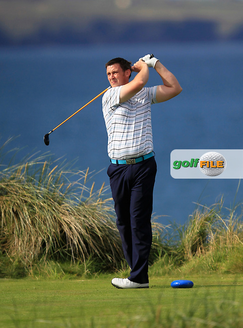 Paul O'Hara (Kilkenny) on the 4th tee during the South of Ireland Amateur Open Championship Second Round at Lehinch Golf Club  28th July 2013 <br /> Picture:  Thos Caffrey / www.golffile.ie