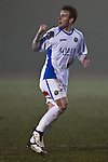 Picture by Arron Gent/Extreme Aperture Photography +44 7545 970036.18/02/2013.Perry Ryan of Havant & Waterville celebrates scoring his side's first goal during the Blue Square Bet Blue Square South  League match at Melbourne Stadium, Chelmsford, Essex.