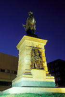 Portland, ME, Maine, Soldiers and Sailors Monument at Monument Square in the evening in downtown Portland.
