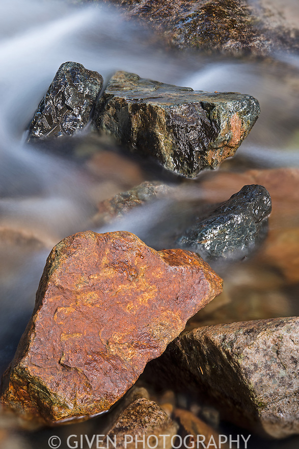 River rocks and water, Mt. Baker National Forest, Washington