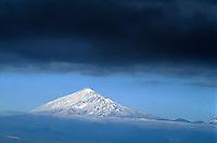 Spanien, Kanarische Inseln, Gomera,  bei Las Rosas, Blick auf Teide auf Teneriffa