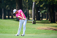 Jon Rahm (ESP) hits his approach shot on 4 during round 3 of the World Golf Championships, Mexico, Club De Golf Chapultepec, Mexico City, Mexico. 3/4/2017.<br /> Picture: Golffile | Ken Murray<br /> <br /> <br /> All photo usage must carry mandatory copyright credit (&copy; Golffile | Ken Murray)