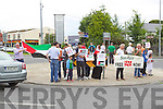Vigil in solidarity with the people of Gaza in Tralee Outside the County Council buildings at Rathass on Wednesday.