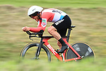 Luxembourg National Champion Jean-Pierre Drucker (LUX) BMC Racing Team in action during Stage 4 of the Paris-Nice 2018 an 18km individual time trial running from La Fouillouse to Saint-Etienne, France. 7th March 2018.<br /> Picture: ASO/Alex Broadway | Cyclefile<br /> <br /> <br /> All photos usage must carry mandatory copyright credit (&copy; Cyclefile | ASO/Alex Broadway)