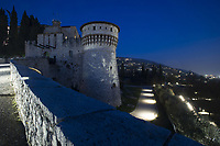 Brescia nella foto Castello notturno geografico Brescia 02/03/2017 foto Matteo Biatta<br /> <br /> Brescia in the picture Castle by night geographic Brescia 02/03/2017 photo by Matteo Biatta