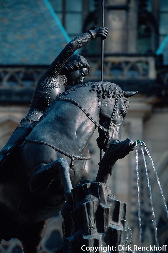Hradschin, Standbild von St. Georg, Prag, Tschechien, Unesco-Weltkulturerbe
