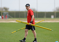 20180304 - LARNACA , CYPRUS :  Belgian docter Kris Vanderlinden pictured during a Matchday -1 training from The Belgian Red Flames prior to their game against Austria , on Sunday 4 March 2018 at the Alpha Sports Grounds in Larnaca , Cyprus . This will be the third game in group B for Belgium during the Cyprus Womens Cup , a prestigious women soccer tournament as a preparation on the World Cup 2019 qualification duels. PHOTO SPORTPIX.BE | DAVID CATRY