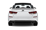Straight rear view of a 2019 KIA Optima SX-Turbo 4 Door Sedan stock images