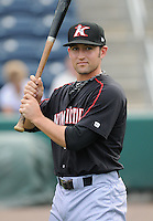 Infielder Lee Drew (11) of the Kannapolis Intimidators, Class A affiliate of the Chicago White Sox, prior to a game against the Greenville Drive on May 26, 2011, at Fluor Field at the West End in Greenville, S.C. The game was postponed due to rain. (Tom Priddy / Four Seam Images)