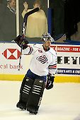 January 9th, 2009:  Mike Brodeur (29) of the Rochester Amerks is named the games first star after defeating the Syracuse Crunch at Blue Cross Arena in Rochester, NY.  Rochester defeated Syracuse 3-1 for their third straight win.  Photo Copyright Mike Janes Photography 2009