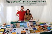 Festa Nazionale dell' Altra Economia. Roma. National Day for other economy. Rome..Casa editrice Fiori Gialli...