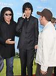 WESTWOOD, CA - JUNE 04: Gene Simmons, Nick Simmons and Adam Sandler arrive at the Los Angeles premiere of 'That's My Boy' held at Regency Village Theatre Westwood on June 4, 2012 in Westwood, California.