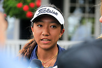 Zoe Campos (USA) after the practice round of the Augusta National Womans Amateur 2019, Champions Retreat, Augusta, Georgia, USA. 05/04/2019.<br /> Picture Fran Caffrey / Golffile.ie<br /> <br /> All photo usage must carry mandatory copyright credit (&copy; Golffile | Fran Caffrey)