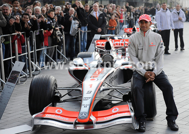 **ALL ROUND EXCLUSIVE PICTURES FROM SOLARPIX.COM**.**SYNDICATION RIGHTS FOR UK AND SPAIN ONLY**.Formula 1 world Champion Lewis Hamilton pictured at the Stars & Cars Day 2008 around the Mercedes-Museum in the German town Stuttgart..JOB REF:7831 -CPR       DATE:08.11.08.**MUST CREDIT SOLARPIX.COM OR DOUBLE FEE WILL BE CHARGED* *UNDER NO CIRCUMSTANCES IS THIS IMAGE TO BE REPRODUCED FOR ANY ONLINE EDITION WITHOUT PRIOR PERMISSION*