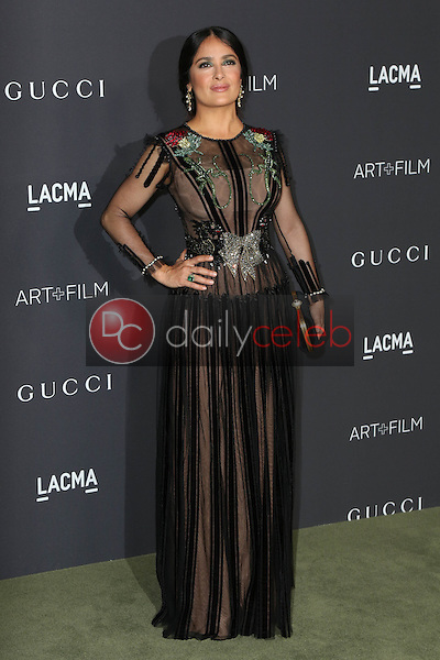 Salma Hayek<br /> at the 2016 LACMA Art +  Film Gala, LACMA, Los Angeles, CA 10-29-16<br /> David Edwards/DailyCeleb.com 818-249-4998