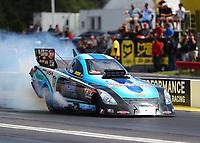 May 6, 2017; Commerce, GA, USA; NHRA funny car driver Jeff Diehl during qualifying for the Southern Nationals at Atlanta Dragway. Mandatory Credit: Mark J. Rebilas-USA TODAY Sports