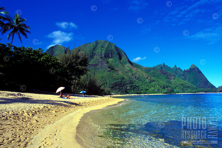Makua or Tunnels beach, Haena, North shore  of Kauai