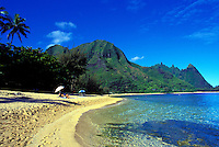 Makua or Tunnels beach, Haena, North shore  of Kauai