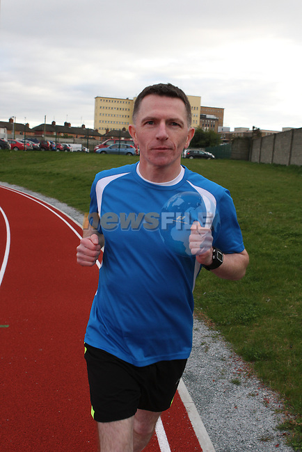Eoin McGinn who is in training for the Marathon...(Photo credit should read Jenny Matthews/NEWSFILE)...