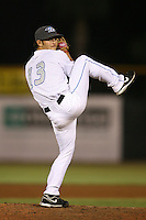 April 10th 2009:  Relief Pitcher Tim Collins of the Dunedin Blue Jays, Florida State League Class-A affiliate of the Toronto Blue Jays, during a game at Dunedin Stadium in Dunedin, FL.  Photo by:  Mike Janes/Four Seam Images