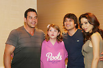 Tyler Christopher - Dominic Zamprogna - Lisa LoCiero - General Hospital pose with Kaitlyn who came all the way from Michigan and drew a picture of each at Uncle Vinny's/Ferraras at the Crown Plaza in Trevose, Pennsylvania on April 22, 2010 to see fans with a q & a and autographs and taking of photos. (Photo by Sue Coflin/Max Photos0
