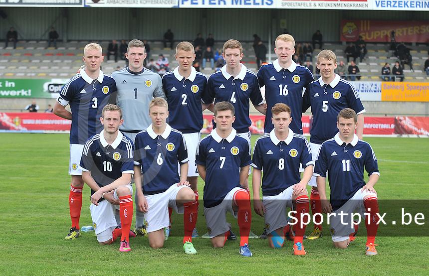 Scotland U19 - Georgia U19 : Team Scotland.foto DAVID CATRY / Nikonpro.be
