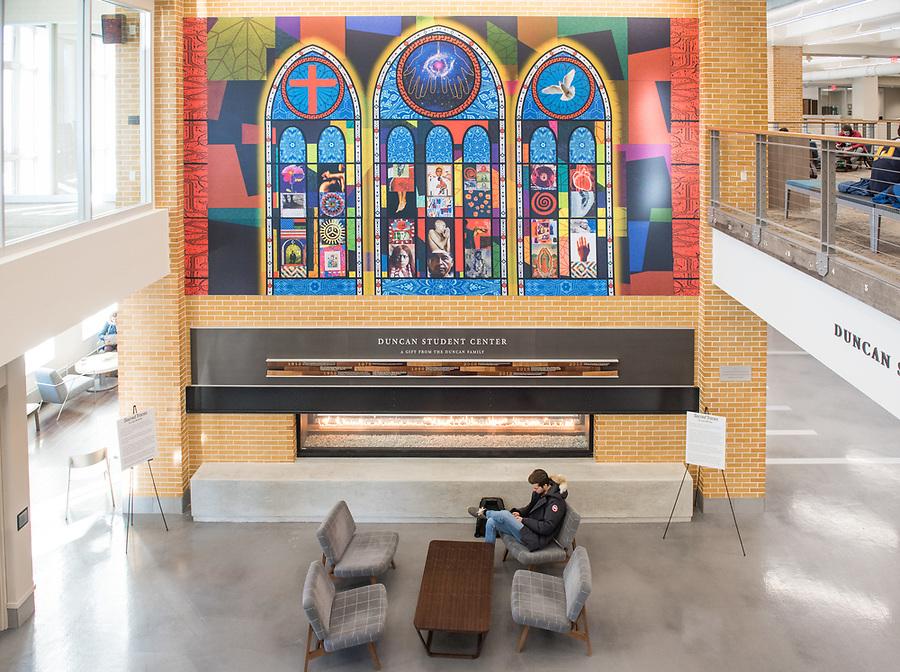 February 12, 2018; Duncan Student Center (Photo by Barbara Johnston/University of Notre Dame)