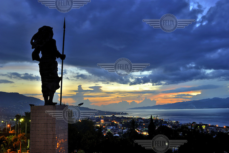 The statue of Martha Christina (1800-1818), a former freedom fighter against the Dutch who ruled Indonesia for around 350 years up until Indonesian independence in 1946. The 1999-2002 religious war between Maluku's Christian and Muslim populations, mainly centred on Ambon Island, led to over 5000 deaths and to around 500,000 people become displaced. Destroyed homes and offices, churches and mosques are slowly being either torn-down or renovated.  Urban centres, such as Ambon City, continue to be split along largely sectarian lines, and tensions are never far below the surface. Riots between Christian and Muslim youths erupted in September 2011 and, most recently, June 2012, though luckily simmered down just as quickly, partly due to community leaders learning how to defuse tensions from the earlier, more devastating, conflagration. /Felix Features