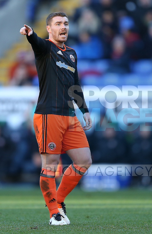 John Fleck of Sheffield Utd  during the FA Cup Second round match at the Macron Stadium, Bolton. Picture date: December 4th, 2016. Pic Simon Bellis/Sportimage