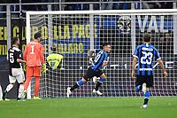 Lautaro Martinez of FC Internazionale celebrates after scoring the goal of 1-1 on penalty<br /> Milano 6-10-2019 Stadio Giuseppe Meazza <br /> Football Serie A 2019/2020 <br /> FC Internazionale - Juventus FC <br /> Photo Andrea Staccioli / Insidefoto