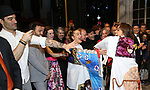 Ramin Karimloo, Katie Webber and  Shina Ann Morris attends Actors' Equity Broadway Opening Night Gypsy Robe Ceremony honoring Shina Ann Morris for  'Anastasia' at the Broadhurst Theatre on April 24, 2017 in New York City.