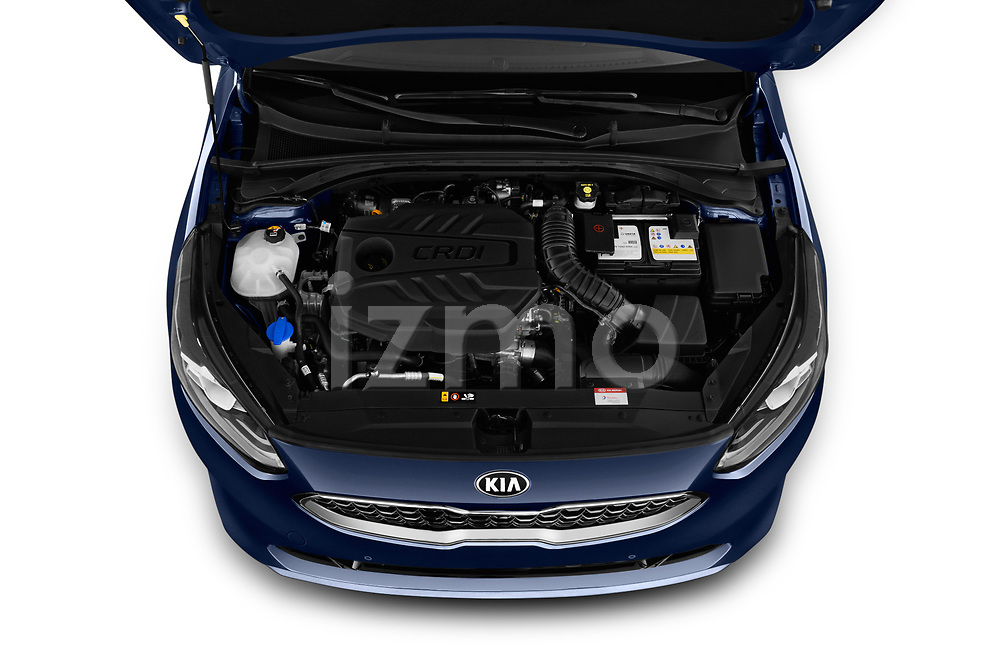 Car Stock 2019 KIA Ceed-SW More 5 Door Wagon Engine  high angle detail view