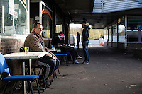 Paris, France, 15.11.2015. Sedjai Amin drinks his mint tea at a bar in the French suburb of Clichy-sous-Bois. He speaks about the troubles in the French society linked to inequality and poverty in the suburbs. Images from Paris in the aftermath of the devastating terror attacks on friday november 13. Photo: Christopher Olssøn.