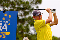 Stephen Allan (AUS) on the 4th tee during round 2 of the Australian PGA Championship at  RACV Royal Pines Resort, Gold Coast, Queensland, Australia. 20/12/2019.<br /> Picture TJ Caffrey / Golffile.ie<br /> <br /> All photo usage must carry mandatory copyright credit (© Golffile | TJ Caffrey)