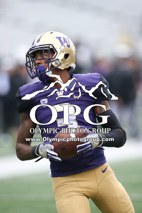 03 September 2016:  Washington's Darren Gardenhire against Rutgers.  Washington defeated Rutgers 48-13 at the University of Washington in Seattle, WA.