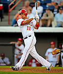 18 March 2009: Washington Nationals' third baseman Ryan Zimmerman in action during a Spring Training game against the Florida Marlins at Space Coast Stadium in Viera, Florida. The Marlins defeated the Nationals 7-5 in the Grapefruit League matchup. Mandatory Photo Credit: Ed Wolfstein Photo