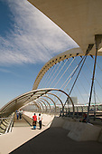 Tercer Milenio (Third Millenium) Bridge, built for the 2008 Water Expo, Zaragoza, Spain.