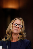 Professor Christine Blasey Ford, who has accused U.S. Supreme Court nominee Brett Kavanaugh of a sexual assault in 1982, testifies before a Senate Judiciary Committee confirmation hearing for Kavanaugh on Capitol Hill in Washington, U.S., September 27, 2018. REUTERS/Jim Bourg
