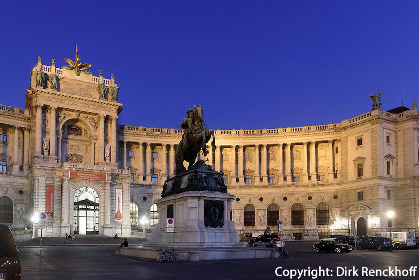 Neue Hofburg mit Nationalbibliothek, Wien, &Ouml;sterreich, UNESCO-Weltkulturerbe<br /> Neue Hofburg and national library, Vienna, Austria, world heritage