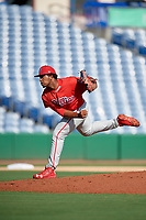 Philadelphia Phillies pitcher Robinson Martinez (64) delivers a pitch during a Florida Instructional League game against the New York Yankees on October 12, 2018 at Spectrum Field in Clearwater, Florida.  (Mike Janes/Four Seam Images)