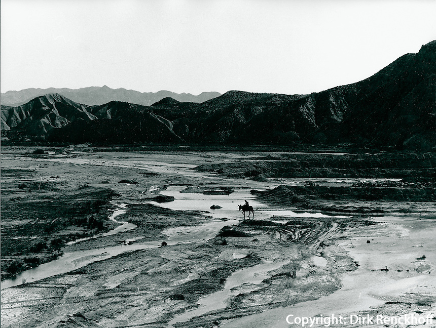 Flussbett in Andalusien, Spanien 1975