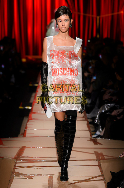 MOSCHINO <br /> at Milan Fashion Week FW 17 18<br /> in Milan, Italy  February 2017.<br /> CAP/GOL<br /> &copy;GOL/Capital Pictures
