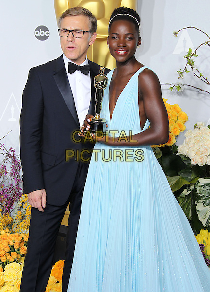 02 March 2014 - Hollywood, California - Christoph Waltz, Lupita Nyong'o 86th Annual Academy Awards held at the Dolby Theatre at Hollywood &amp; Highland Center. <br /> CAP/ADM/RE<br /> &copy;Russ Elliot/AdMedia/Capital Pictures
