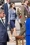 01.10.2012. The Spanish Royal Family, King Juan Carlos, Queen Sofia, Prince Felipe, Princess Letizia and Princess Elena attend the imposition of collective Distinguished Cross San Fernando Al Banner Armored Cavalry Regiment ´Alcántara´ No. 10 in the Royal Palace in Madrid, Spain. In the image Princess Letizia of Spain (Alterphotos/Marta Gonzalez)